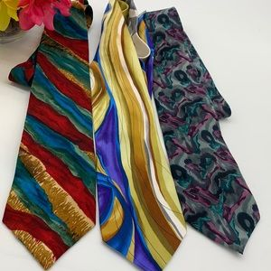 J. Garcia lot of three ties - 100% Silk